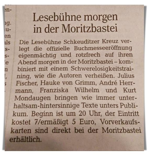 Leipziger Volkszeitung vom 20. März 2017